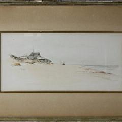 "1-4884 Jane Brewster Reid Watercolor ""Beach at Wauwinet"" A _MG_2689"