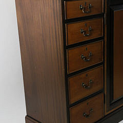 The Federalist Mahogany and Maple Breakfront Cabinet