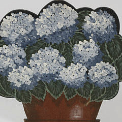 Janette Baker Hand Painted Hydrangea Wooden Fireplace Cover