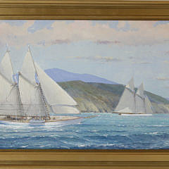 "127-3520 William Lowe Oil, ""Schooner off The Island"" A_MG_2505"