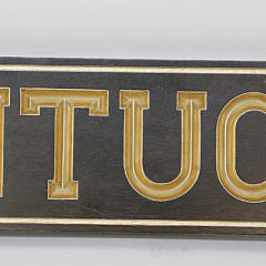 "Carved and Gilt, ""Nantucket"" Quarterboard Flanked with Scallop Shells"