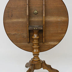 Antique Mahogany Round Tilt Top Table