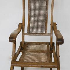 19th Century English Elm Plantation Chair