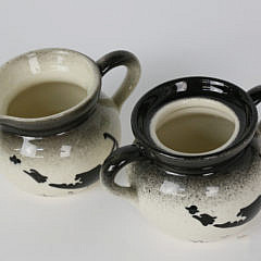 Vintage Old Spouter Gallery Nantucket Creamer and Sugar Set
