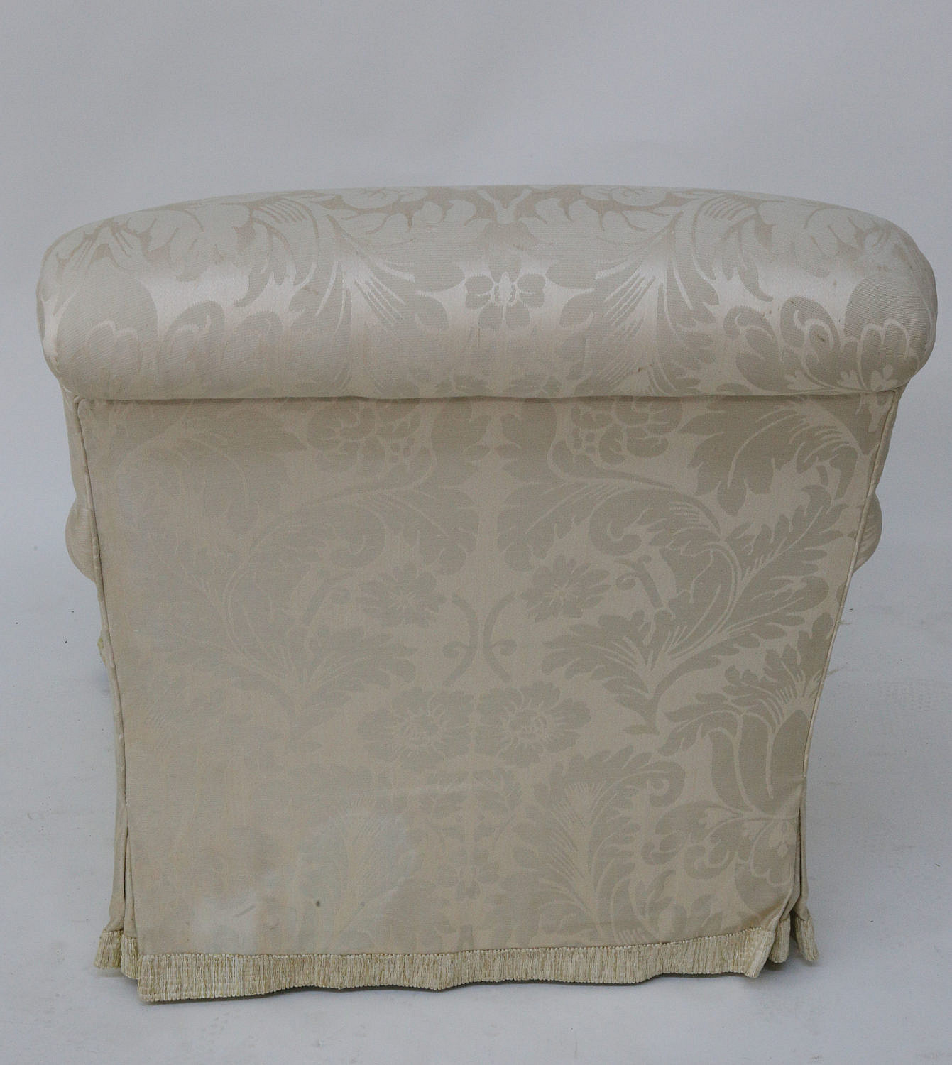 White Damask Upholstered Armchair - White Damask ...