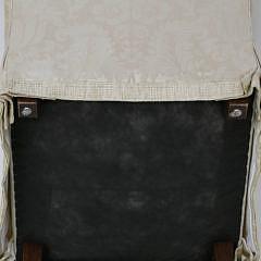 White Damask Upholstered Armchair