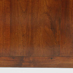 Contemporary French Fruitwood Dining Table with Breadboard End Top