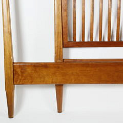 Stephen Swift Cherry and Ash Pencil Four-Post Spindle Queen Size Bed