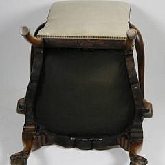 Georgian Style Cherry Upholstered Highback Armchair