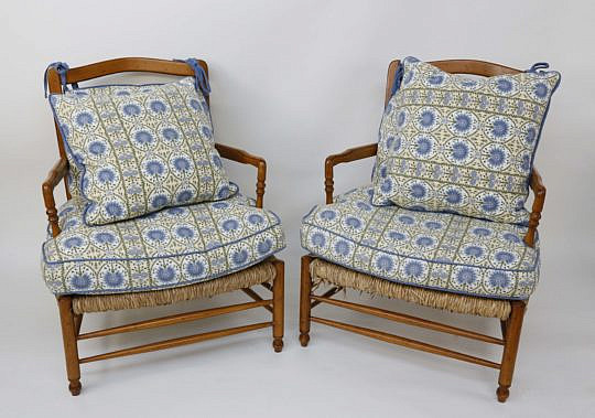 30-4890 Cherry Rush Armchairs with Floral Cushions A_MG_2799