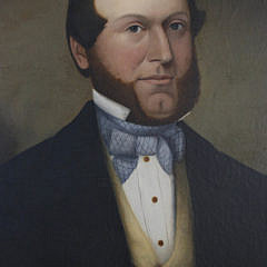 American Oil on Canvas Portrait of a Gentleman, 19th c.