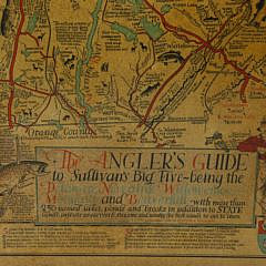 "Cayton B. Seagers 1935 Map, ""The Angler's Guide to Sullivan's Big Five"""