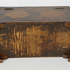 English Regency Tiger Maple Inlaid Triple Compartment Tea Caddy, 19th c.