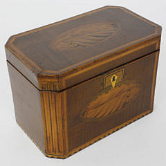 370-3771 Tiger Maple Canted Corner Double Compartment Tea Caddy A_MG_3174