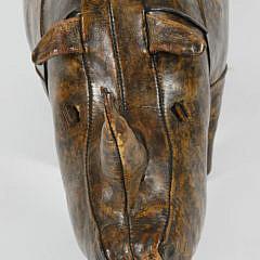 Dimitri Omersa Leather Rhinoceros Ottoman
