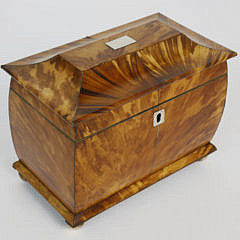 380-3771 English Regency Tortoiseshell Double Compartment Tea Caddy A_MG_3156