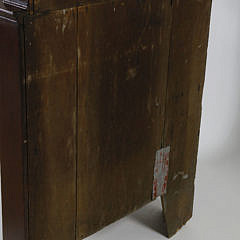 19th c. American Red Stained 2-Part Corner Cupboard