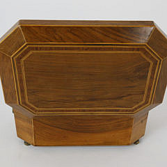 English Regency Inlaid Satinwood Jewelry Box, 19th Century