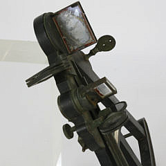 E & G.W. Blunt New York Ebony and Brass Sextant, 19th c.