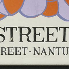 Vintage 1960s Main Street Gallery Nantucket Silk Screen Poster