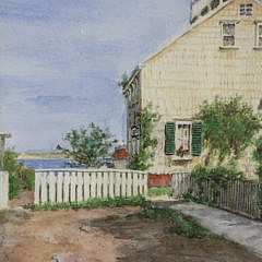 "Jane Brewster Reid Nantucket Watercolor ""The Guardian, Cash's Court"""
