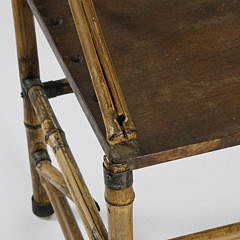 19th c. English Photographer's Bamboo Bench