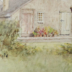 "Jane Brewster Reid Watercolor on Paper, ""New Dollar Lane Garden, East"""