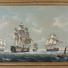 389-3771 Salvatore Colacicco Oil British Man-o-War Fleet in the open seas A_MG_2634