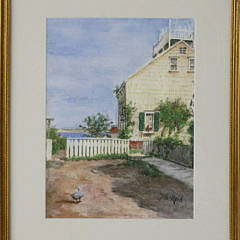 "63-246 Jane Brewster Reid Watercolor ""The Guardian, Cash's Court"" A_MG_2540"