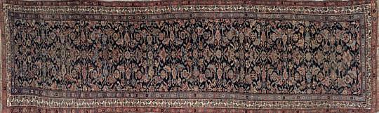 1-4561 Antique Hand Woven Geometric Carpet Runner A IMG_4658
