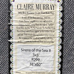 """Claire Murray Hooked Rug """"Sirens of the Sea II"""""""