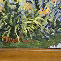 "Illya Kagan Oil on Canvas, ""Back Street, 'Sconset"""