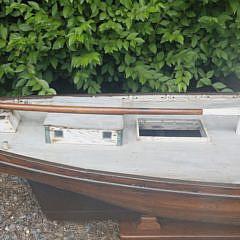 19th C. Coastal Schooner Pond Model