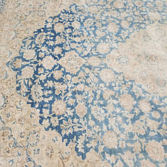 Vintage Washed Persian Kashan Carpet