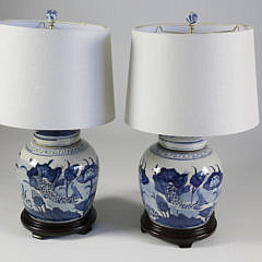 101 BB Pair of Canton Style Jar Lamps on teak bases A_MG_4025