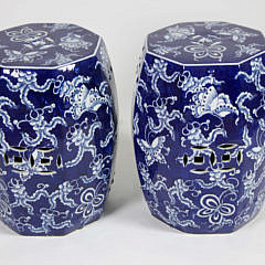 101 Pair Blue White Butterfly Garden Stools A_MG_4411