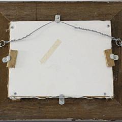 """Robert Trotter Trompe l'oeil Oil On Panel, """"Island Charm"""""""