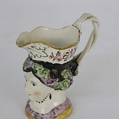18th Century English Staffordshire Female Toby Jug