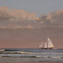 """Michael Keane Oil on Canvas, """"Passing Squall"""""""
