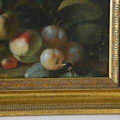 Fruit Still Life Oil on Canvas, 19th Century