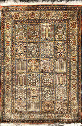 14-4500 Diminutive Hand Woven Silk and Wool Carpet A IMG_4556(1)