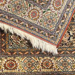 Diminutive Hand Woven Silk and Wool Carpet