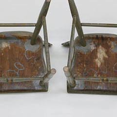 Pair of Decorated Pennsylvania Side Chairs, circa 1840