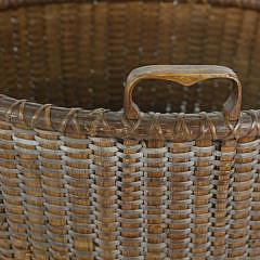 19th Century Round Open Nantucket Basket