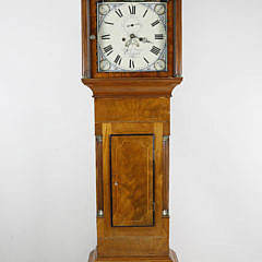 James Young, Portsmouth, England Inlaid Mahogany Tall Case Clock, circa 1825-1830