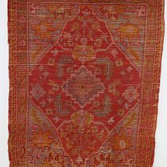 Antique Oushak Hand Woven Scatter Rug