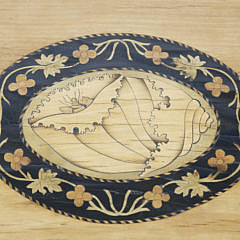 English Inlaid Tray Top Stand