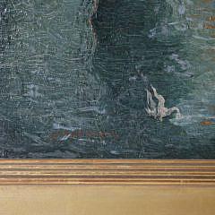 "Glenn O. Coleman Oil on Canvas, ""Rockport Harbor"""