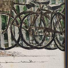 "Barbara Kauffmann-Locke Pen and Watercolor ""Fourth of July"""