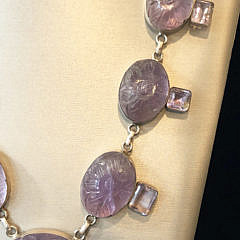 Lavender Amethyst and Sterling Silver Necklace